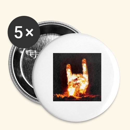 fingers bomb - Lot de 5 grands badges (56 mm)
