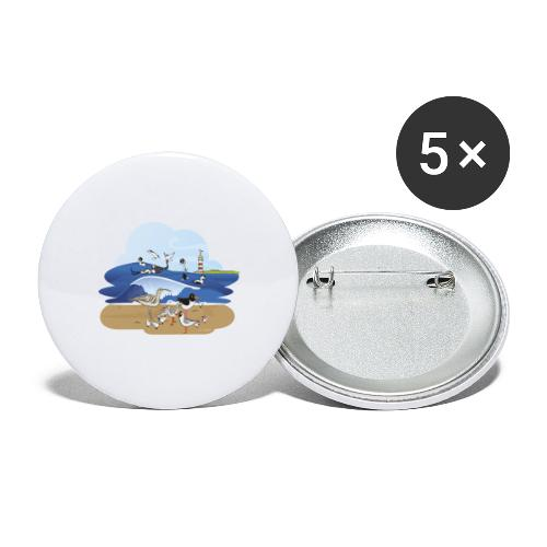 See... birds on the shore - Buttons large 2.2''/56 mm (5-pack)