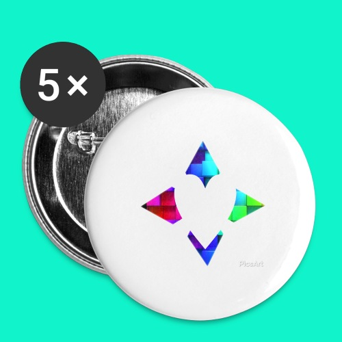 4lof - Buttons groot 56 mm (5-pack)