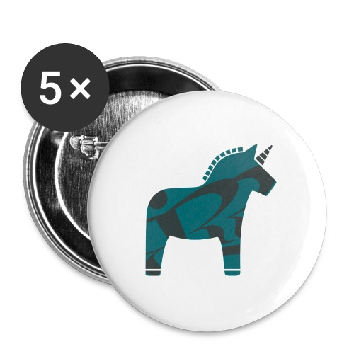 Swedish Unicorn - Buttons groß 56 mm (5er Pack)