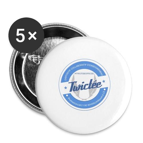 logo twictee - Lot de 5 grands badges (56 mm)