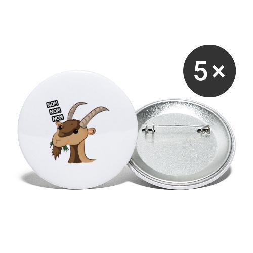 Lo stambecco puccioso - Confezione da 5 spille grandi (56 mm)