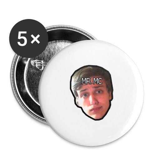 MR. MC - Buttons/Badges stor, 56 mm (5-pack)