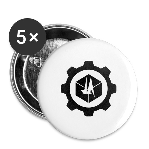 Jebus Adventures Logo (Transparent) - Buttons large 2.2''/56 mm(5-pack)