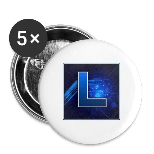 Logo GamenMetLucas - Buttons groot 56 mm (5-pack)