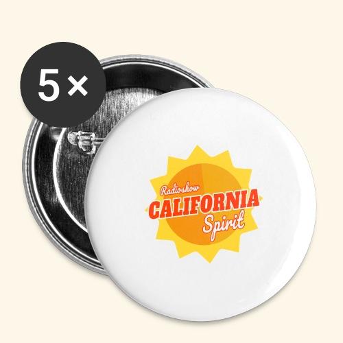 California Spirit Radioshow - Lot de 5 grands badges (56 mm)