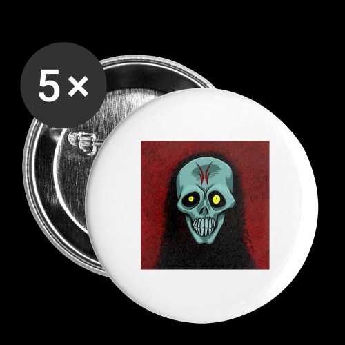 Ghost skull - Buttons large 2.2''/56 mm (5-pack)