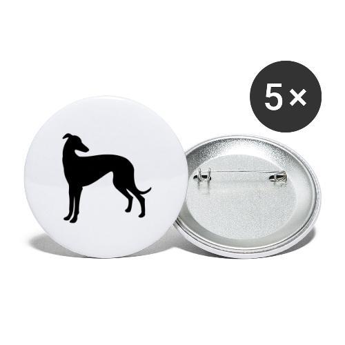 Greyhound - Buttons groß 56 mm (5er Pack)