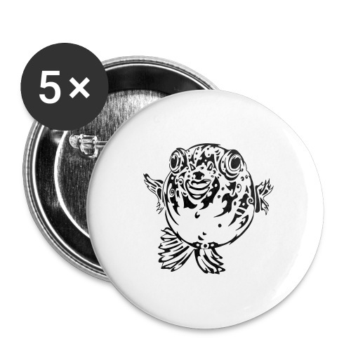 Puff the Blowfish - Buttons large 2.2''/56 mm (5-pack)