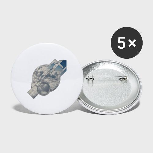 Abstract Cloud - Buttons groß 56 mm (5er Pack)
