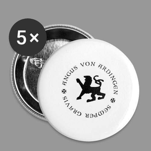 angus von ardingen semper gravis - Buttons groß 56 mm (5er Pack)