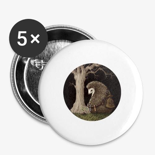 Hérisson du renouveau - Lot de 5 grands badges (56 mm)