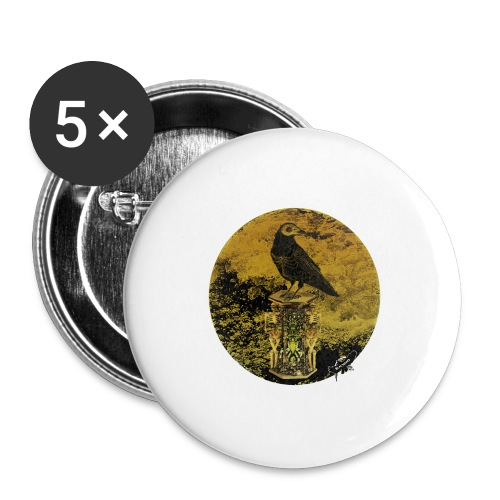 'Memento Mori', round w. logo by BlackenedMoonArts - Buttons/Badges stor, 56 mm (5-pack)