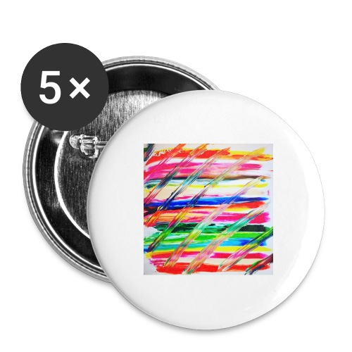 Rainbow Cross - Lot de 5 grands badges (56 mm)