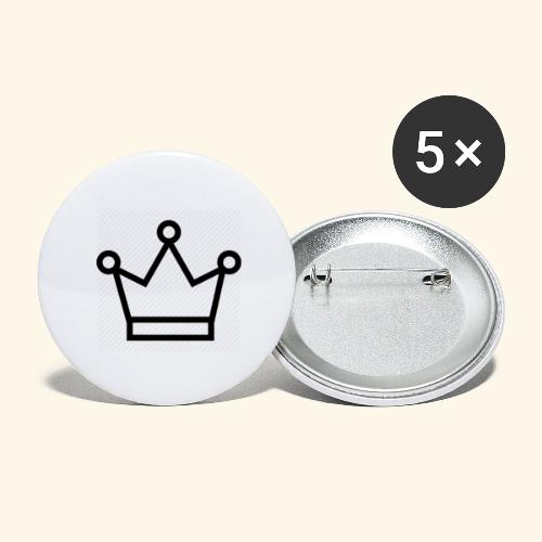 The Queen - Buttons/Badges stor, 56 mm (5-pack)