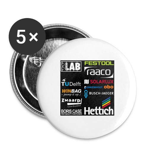 Sponsors back - Buttons large 2.2''/56 mm(5-pack)
