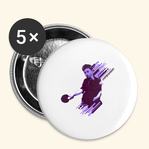 Compassion to win the table tennis championship - Buttons groß 56 mm (5er Pack)