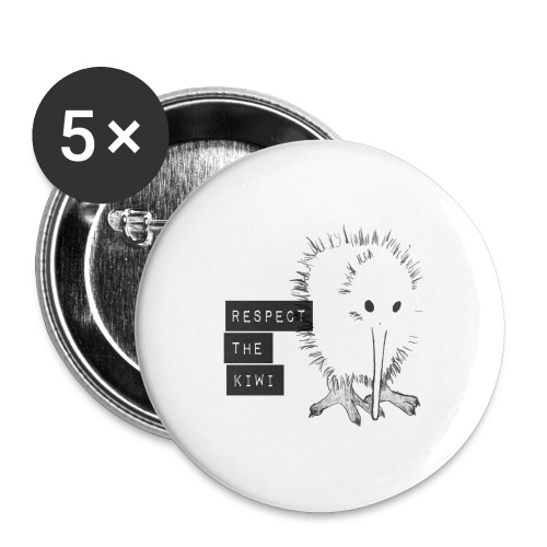 Respect the Kiwi - Buttons groß 56 mm (5er Pack)
