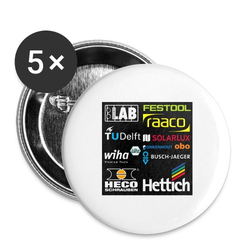 tshirt 2 rueck kopie - Buttons large 2.2''/56 mm(5-pack)