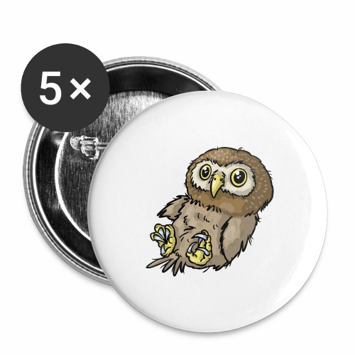 Baby-Eule 03 - Buttons groß 56 mm (5er Pack)