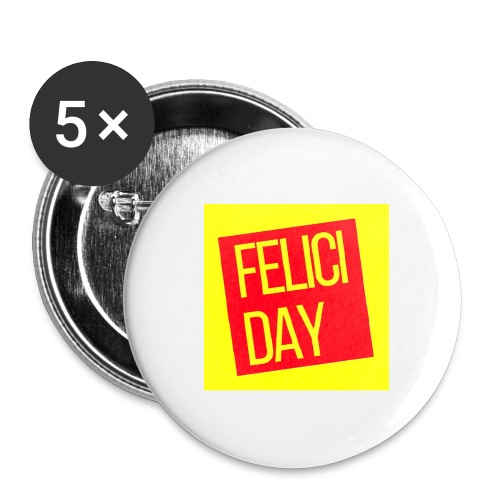 Feliciday - Paquete de 5 chapas grandes (56 mm)