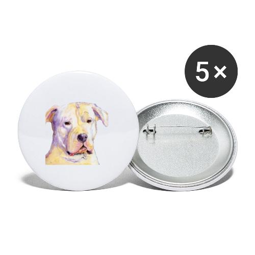 dogo argentino - Buttons/Badges stor, 56 mm (5-pack)