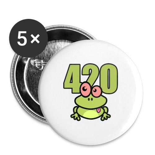 420 Frosch - Buttons groß 56 mm (5er Pack)