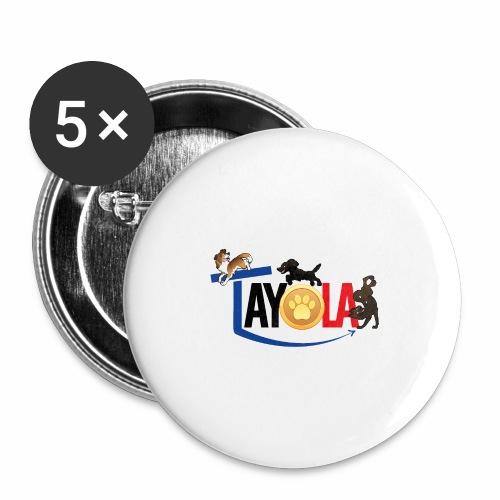 TAYOLA logo 2019 HD - Lot de 5 grands badges (56 mm)