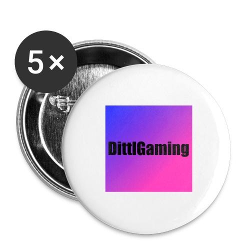 Merch mit Logo von DittlGaming - Buttons groß 56 mm (5er Pack)