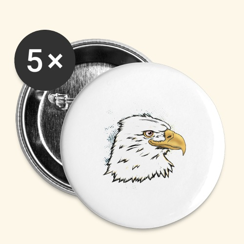 Aguila Emperador Kutuxa - Paquete de 5 chapas grandes (56 mm)