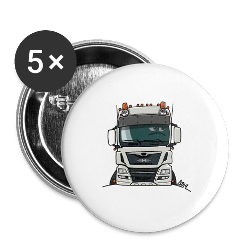 0819 M truck white - Buttons groot 56 mm (5-pack)