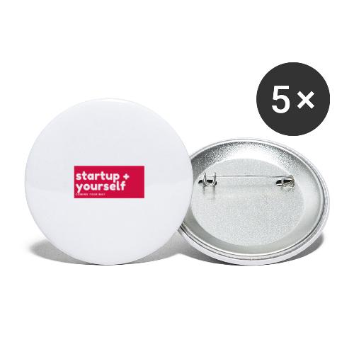 Red White Fashion Logo startup yourself motivation - Buttons groß 56 mm (5er Pack)