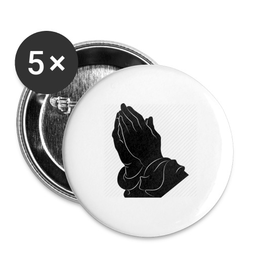 Pray logo - Buttons groß 56 mm (5er Pack)