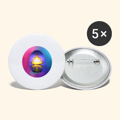 Luminus - Buttons groß 56 mm (5er Pack)