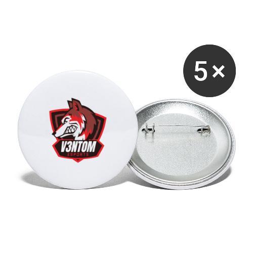 CLAN LOGO V3NTOM - Buttons groß 56 mm (5er Pack)