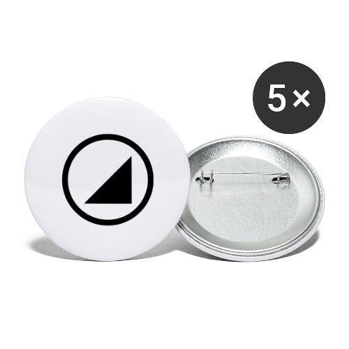 bulgebull marca oscura - Paquete de 5 chapas grandes (56 mm)