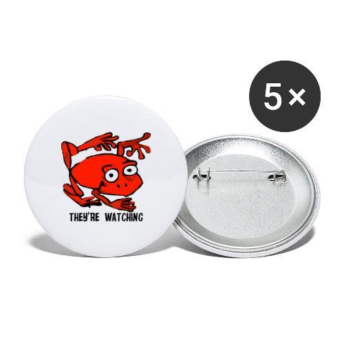 red frog - Confezione da 5 spille grandi (56 mm)