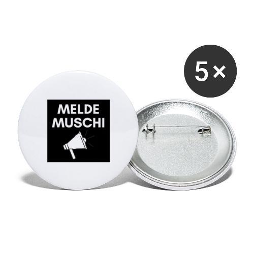 Meldemuschi - Buttons groß 56 mm (5er Pack)