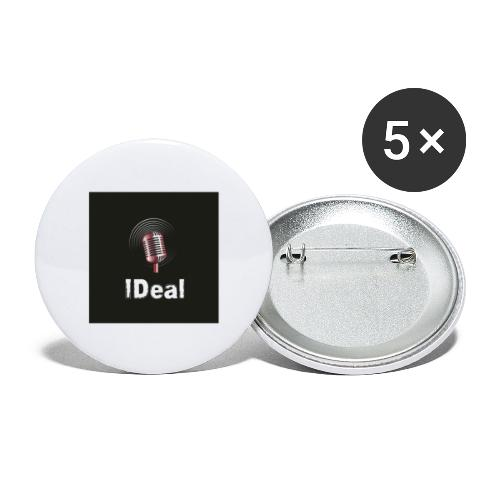 Music by IDeal - Stora knappar 56 mm (5-pack)