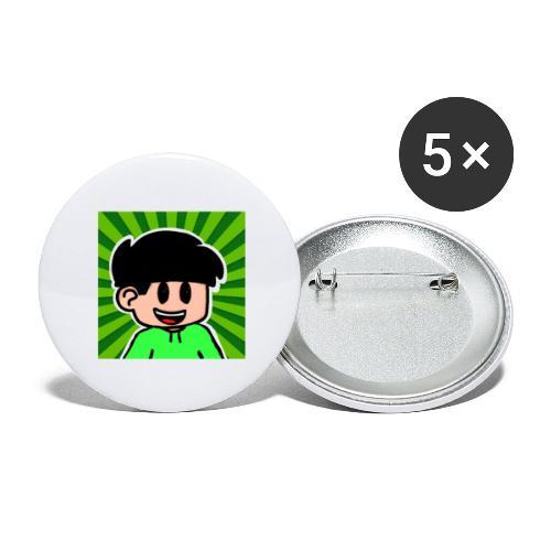 En Glad Linus - Stora knappar 56 mm (5-pack)