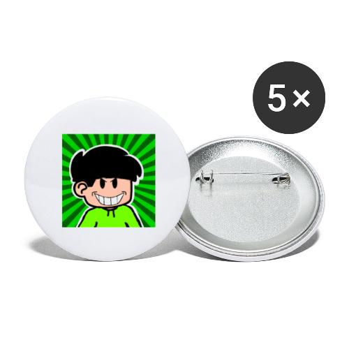 Linus e lite mindre glad - Stora knappar 56 mm (5-pack)