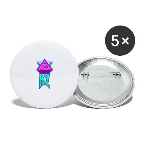 AZ ILLUMINATI - Buttons large 2.2''/56 mm(5-pack)