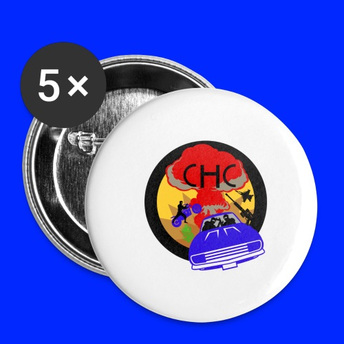 CHC Crew Logo GTA - Stora knappar 56 mm (5-pack)