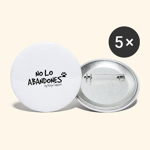 noloabandones negro - Paquete de 5 chapas grandes (56 mm)