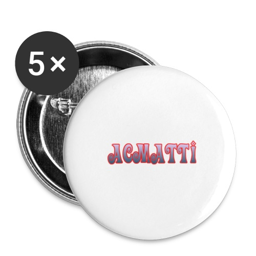 ACMATTI farverig - Buttons/Badges stor, 56 mm (5-pack)
