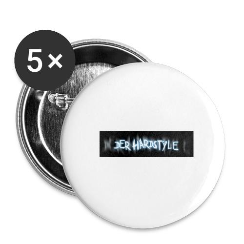 DerHardstyle.ch Kleines Logo - Buttons groß 56 mm (5er Pack)