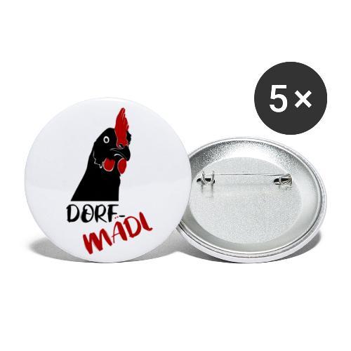 Dorfmädl - Buttons groß 56 mm (5er Pack)