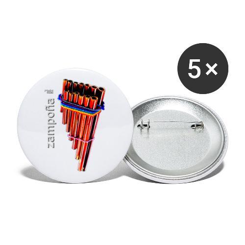 Zampoña - Buttons groß 56 mm (5er Pack)
