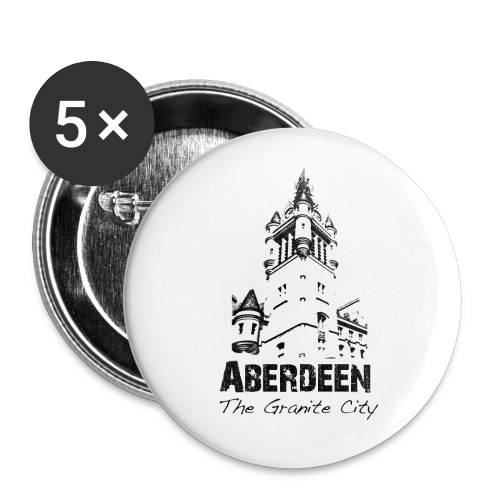 Aberdeen the Granite City - Buttons large 2.2''/56 mm(5-pack)