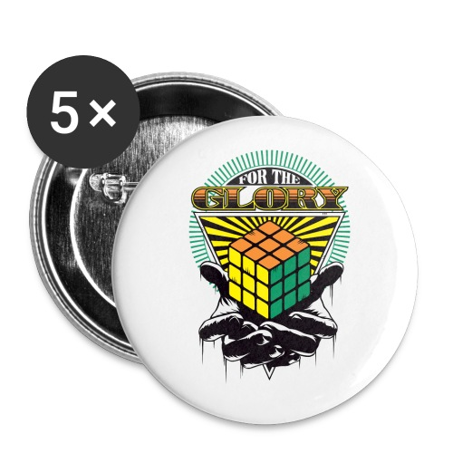 Rubik's For The Glory - Buttons large 2.2''/56 mm(5-pack)
